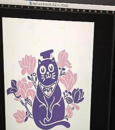 猫咪版画教程分享