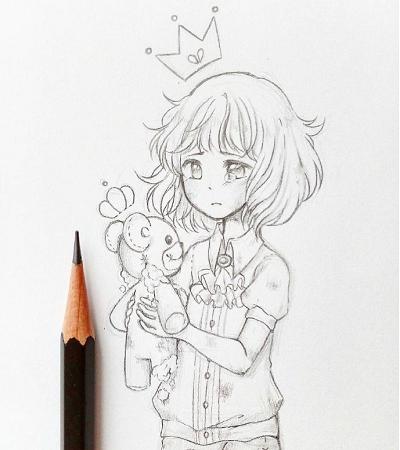 动漫人物铅笔画手绘,一组漫画作品欣赏