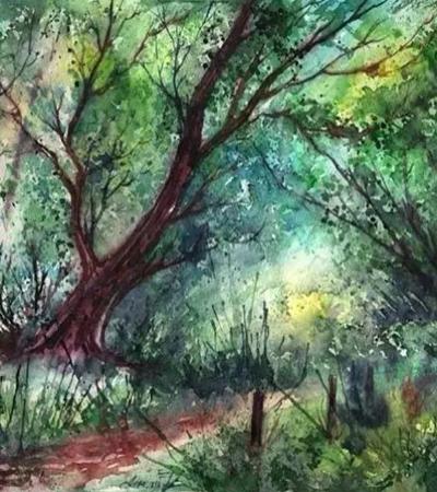 Anna Armona水彩画作品欣赏,怎么用水彩画出梦幻风景画?