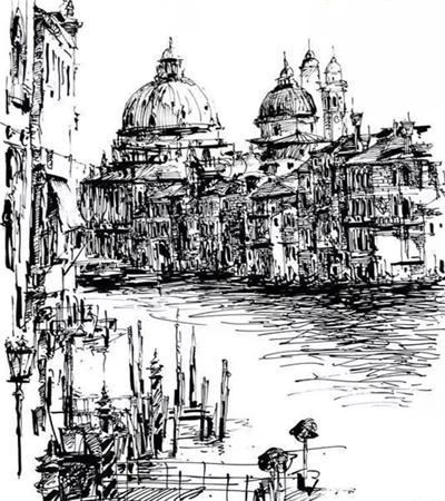 一组钢笔画作品欣赏,如何用钢笔画表现质感?
