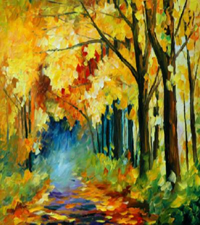 秋天的景色怎么畫?丙烯畫秋景步驟有哪些?