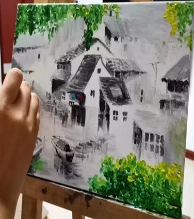 徽派建筑怎么畫?如何畫好江南水鄉的房屋?