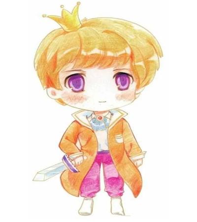 漫畫中的小王子怎么畫?怎么畫一個帥氣的王子?