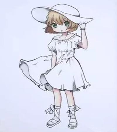 戴帽子的小女孩怎么画?具体的步骤有哪些?
