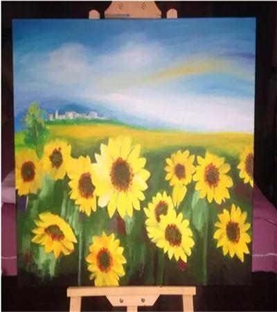 向日葵怎么画?详细的丙烯画步骤图有哪些?