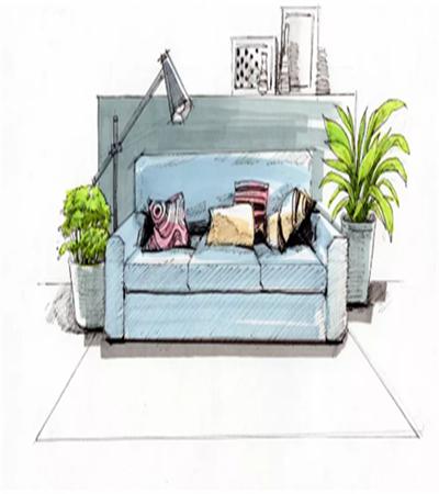 沙发怎么画?客厅一角速写步骤有哪些?
