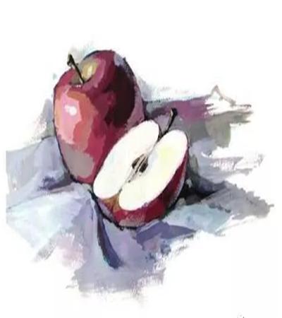 红苹果的画法是什么?水粉步骤有哪些?