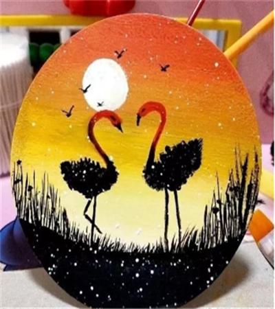 火烈鸟怎么画?具体的丙烯画教程是什么?
