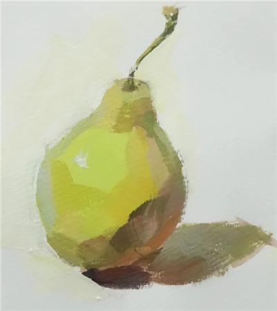 梨子怎么画?水粉梨的画法是什么?