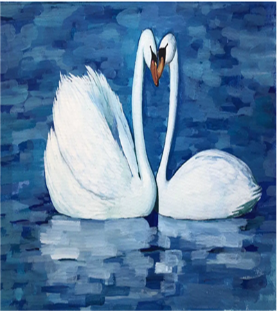 白天鹅怎么画?天鹅的水粉画步骤有几步?