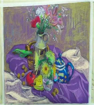 花卉水果怎么畫?靜物色粉畫步驟有哪些?