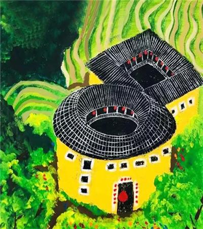 土家客栈怎么画?建筑水粉画的画法是什么?