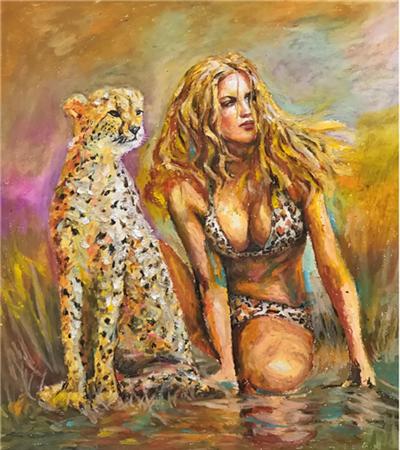 美女與豹子怎么畫?具體的繪畫步驟有幾步?