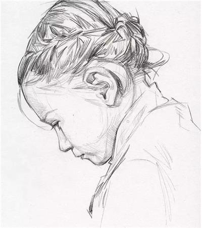 David Malan素描作品欣赏,如何画出干净利落画面?