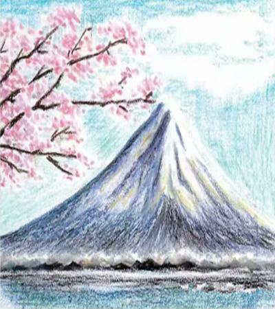 雪峰景色怎么畫?使用油畫棒繪畫要注意什么?