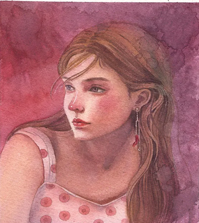 红发少女怎么画?人物插画步骤有几步?