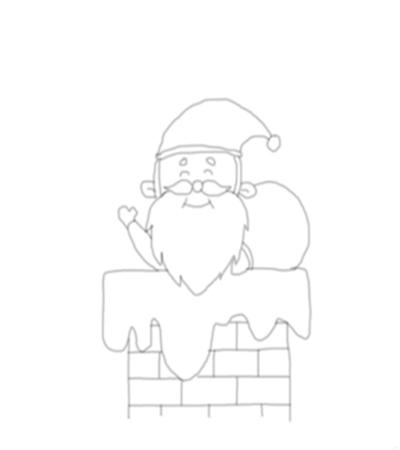 鉆煙囪的圣誕老人怎么畫?具體畫法是什么?