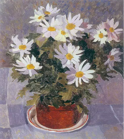 白菊花怎么畫?靜物花卉油畫步驟有哪些?