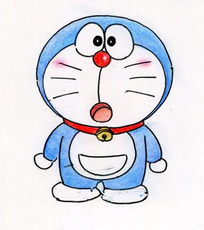 哆啦A夢怎么畫?藍胖子的簡筆畫步驟有幾步?