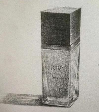 香水瓶怎么畫?素描香水瓶的繪畫步驟有幾步?