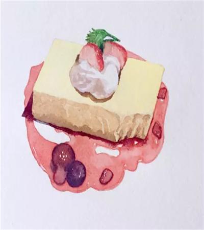 芝士蛋糕怎么畫?草莓芝士蛋糕的畫法是什么?