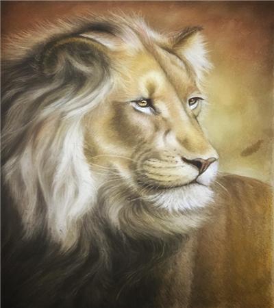 色粉狮子怎么画?详细的绘画步骤有哪些?
