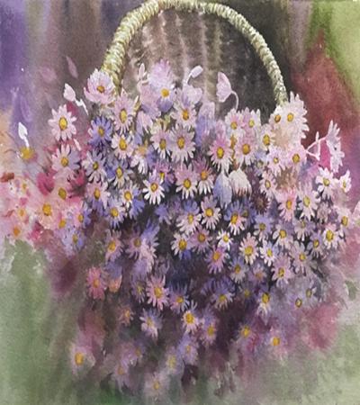 小粉菊怎么畫?水彩步驟有幾步?