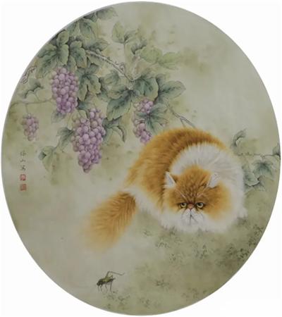 加菲貓怎么畫?葡萄藤下的加菲貓畫法是什么?