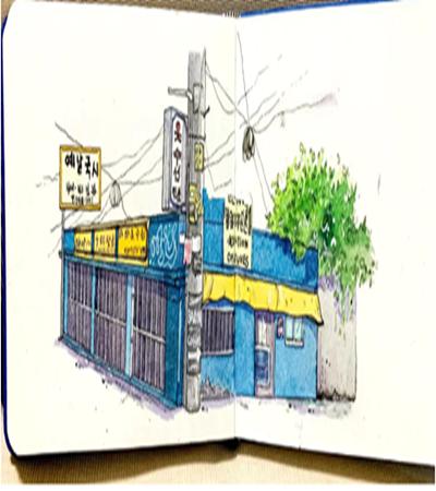 街景小房子怎么畫?如何畫出透視?