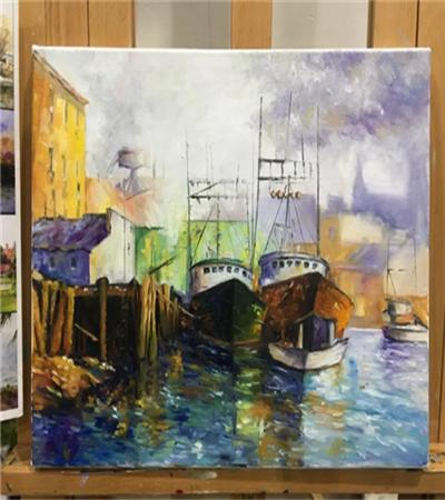 海港的繪畫過程是什么?具體步驟有哪些?