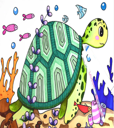 海龜怎么畫?兒童畫步驟有幾步?