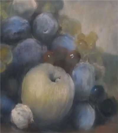 苹果和葡萄怎么画?水果的色粉画步骤有哪些?