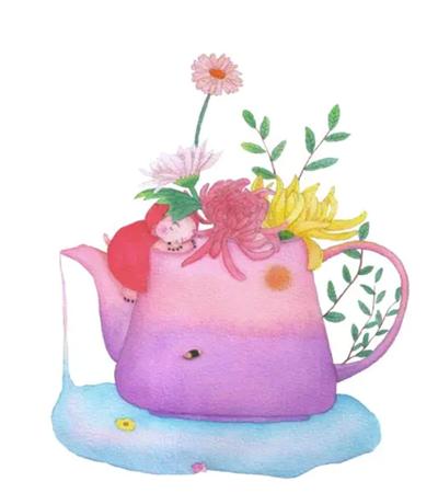 菊花里的小鼴鼠怎么畫?具體的插畫步驟有幾步?