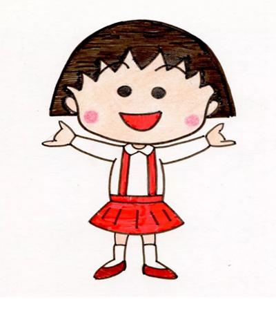 櫻桃小丸子怎么畫?簡單的繪畫步驟有幾步?