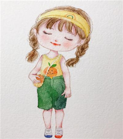 戴帽子小女孩怎么画?具体有哪些绘画步骤?