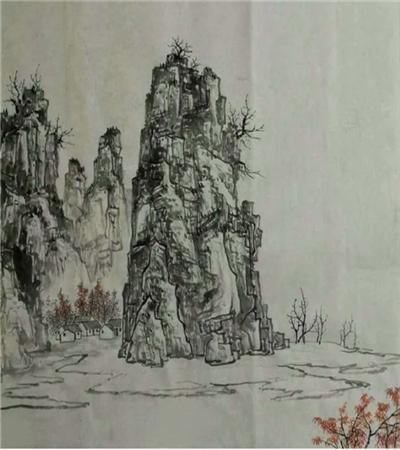 漓江山水怎么画?写意山水画法是什么?