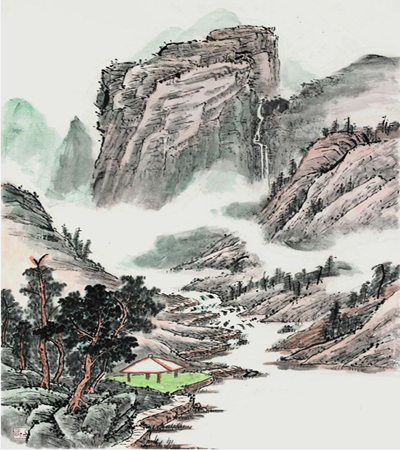 桐树林怎么画?山水风景国画技巧有哪些?