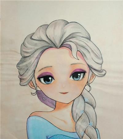 艾尔莎女王怎么画?冰雪奇缘漫画步骤有哪些?