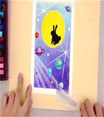 小兔子怎么画?玉兔色粉画法是什么?