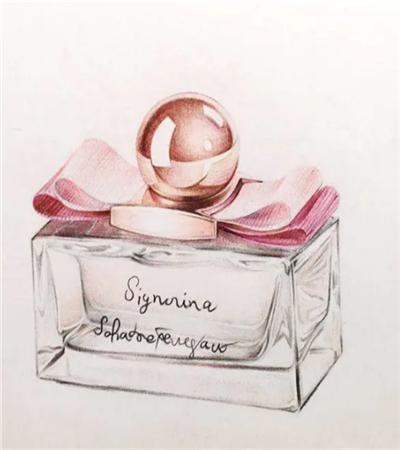 香水瓶怎么画?如何画玻璃材质的质感?