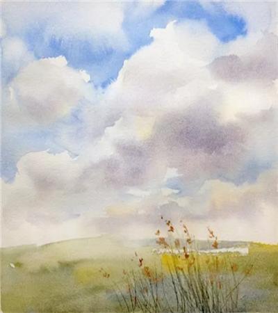 如何画蓝天白云?画天空有哪些小技巧?