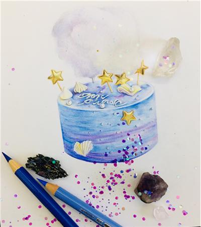 梦幻的蛋糕怎么画?如何理解圆柱体透视?