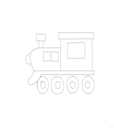 火车简笔画怎么画?简单绘画步骤有哪些?