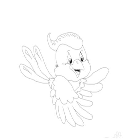 会飞的小动物怎么画?简笔画法是什么?