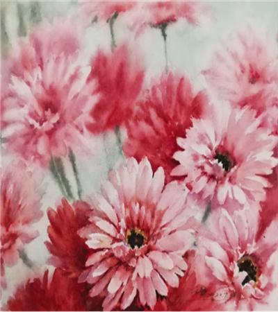 非洲菊如何画?详细的水彩图文步骤有哪些?