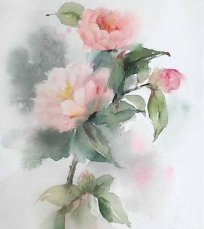 花卉水彩画作品欣赏,水彩如何铺色调?