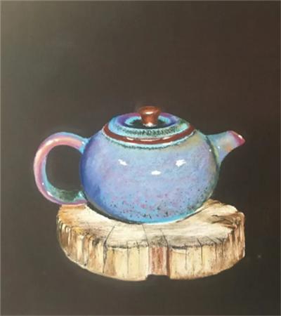 茶壶怎么画?详细的色粉画步骤有几步?