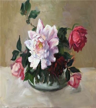 简单的花卉怎么画?一张油画到底是怎么画出来的?