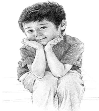素描小男孩怎么画?详细的教程图文步骤分享