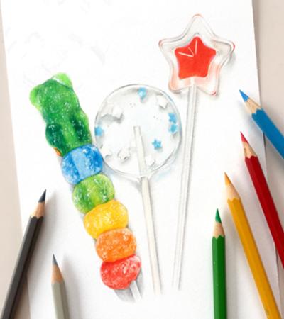 水晶棒棒糖怎么画?有哪些绘画步骤?